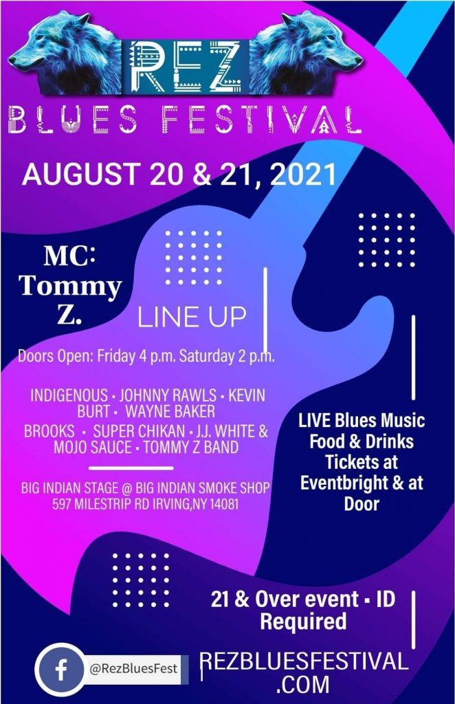 Rez Blues Fest August 20th and 21st 2021